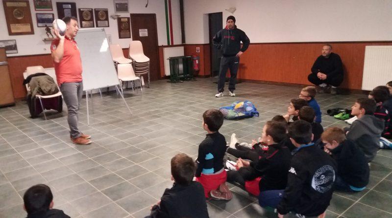 Ecole de rugby : temps froid = tableau noir